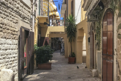 Strade ben curate e angoli fioriti fanno di Bari Vecchia un angolo di relax e quiete da scoprire all'insegna del turismo lento