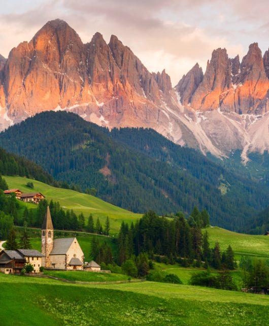 Vacanza in montagna in pulmino